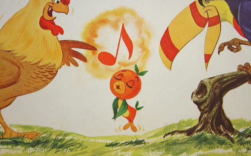 Orange Bird Singing