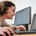 Never old enough - senior woman with computer