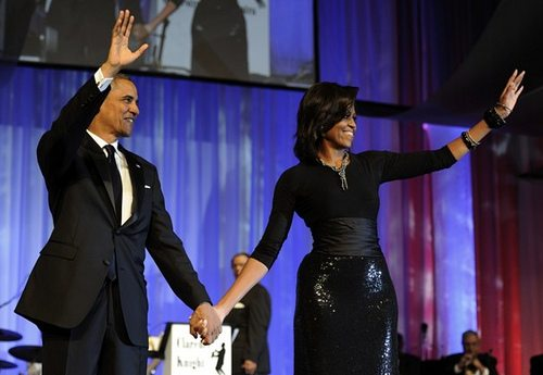 First Lady Michelle Obama with President Barack Obama