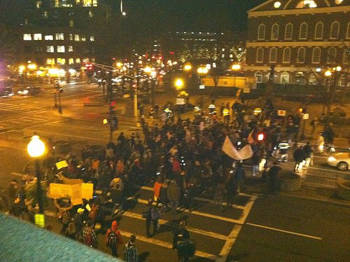 Occupy Boston March Shows Solidarity with Occupy Wall Street