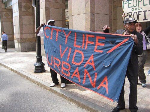vida urbana protest
