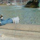 Diggin-in-fountain
