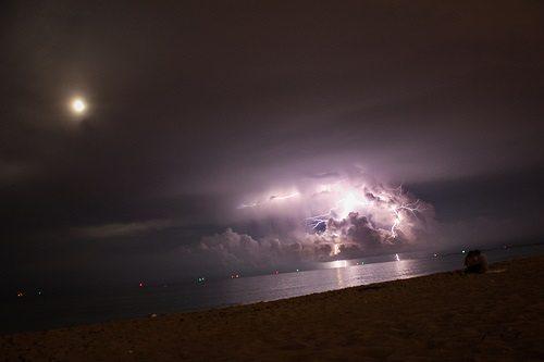 Lightning in Miami-Dade