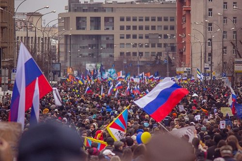Moscow protesting