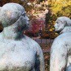 Neighbor-statues