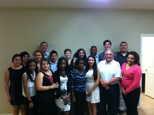 CHS students and Howard Buffet