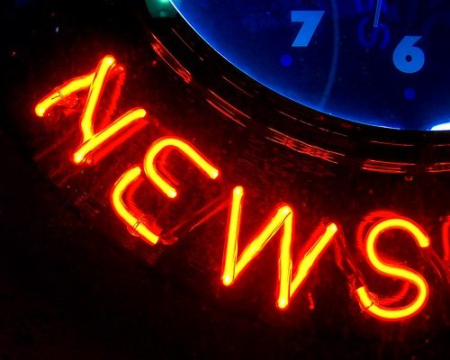 News glowing text for nonprofit newsletter