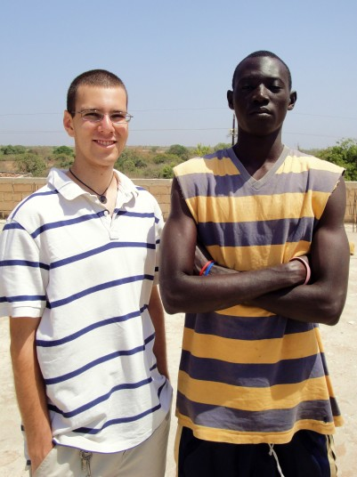 Gus Ruchman with his host brother Abdoulaye in Senegal, 2011. (Photo courtesy of Gus Ruchman)