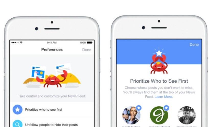 Facebook-preferences