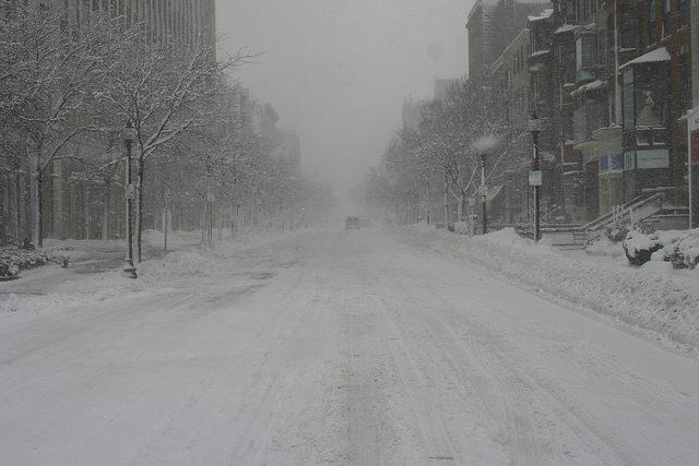 Newbury Street, deserted