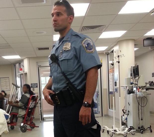 Cop-at-hospital