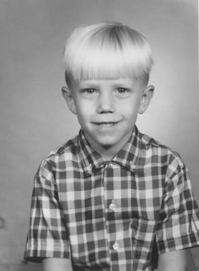 Dennis Whittle in fist grade, 1967. Photo courtesy of Whittle.