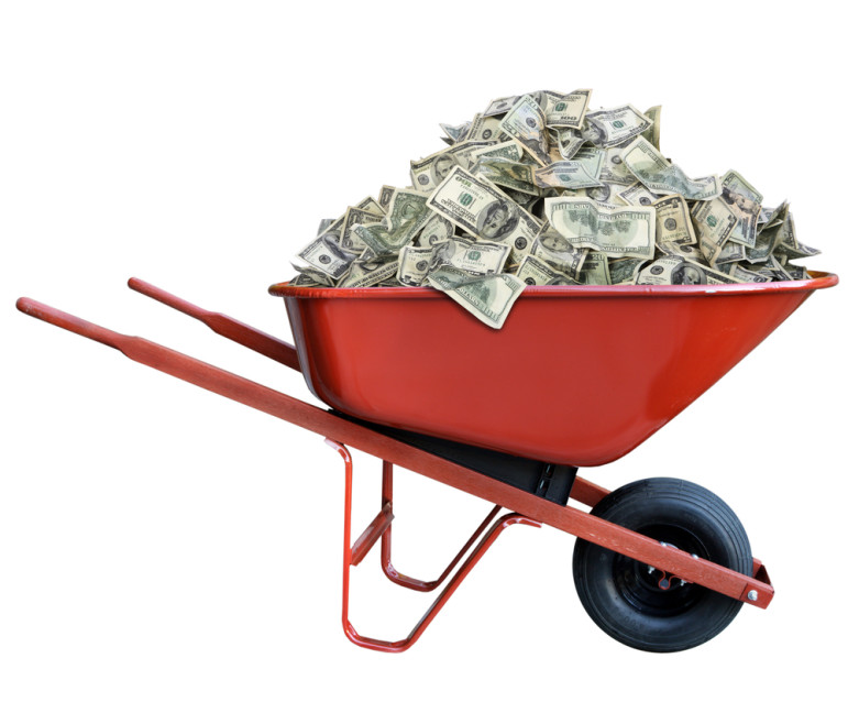 Money-wheelbarrow