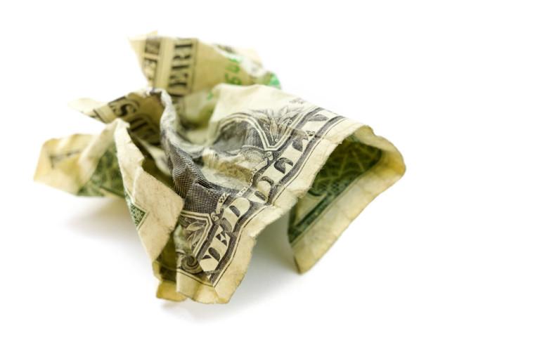 Money-crumpled