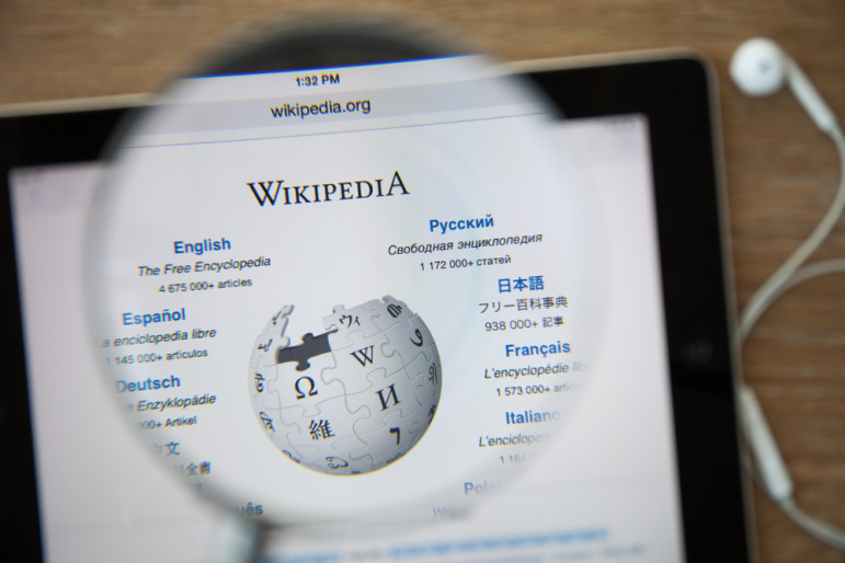 Wikipedia-homepage