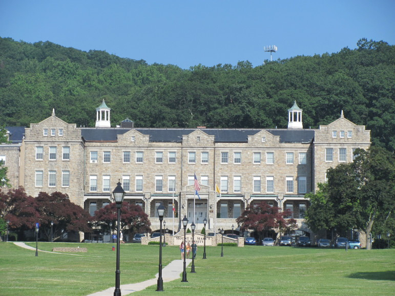 A picture of Bradley Hall at Mount St. Mary's in Maryland. Mount St. Mary's is a non-profit university.