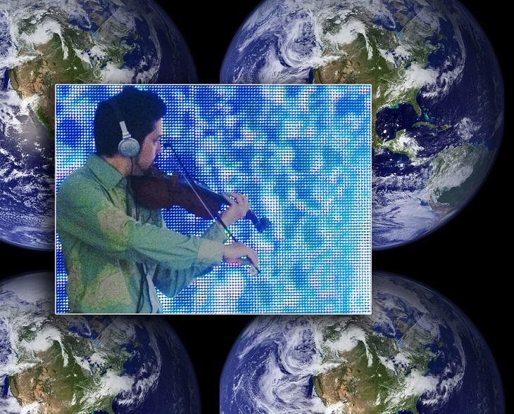 Violinist-digital-performance