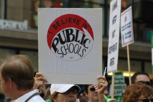 public-school-sign