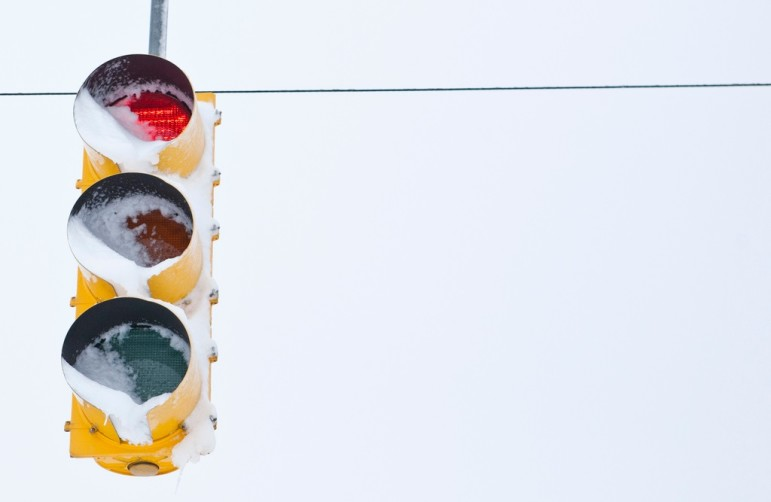Frozen-traffic-light