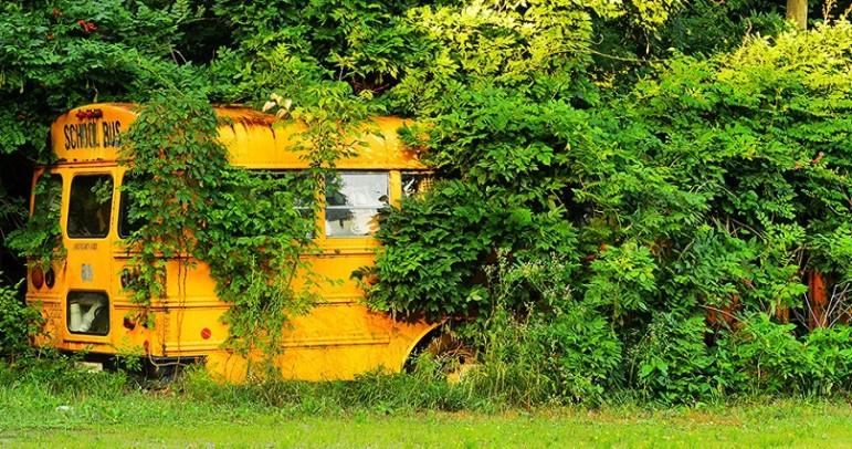 Crashed-school-bus
