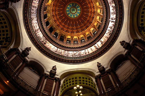 ib0870 springfield state capitol interior dome statehouse / Mark Goebel