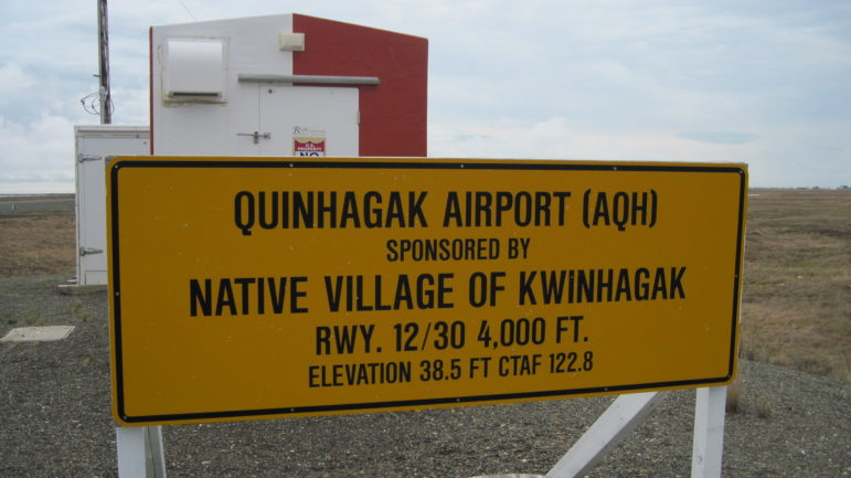 Sign_at_Quinhagak,_Alaska