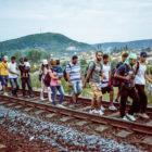 Refugees-walking-on-tracks