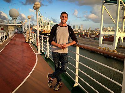 Kushner aboard Carnival's social impact cruise, Fathom. (Credit: Jacob Kushner)