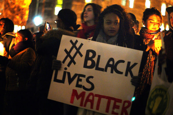 #BlackLivesMatter sign. Shot at the November 25th Ferguson vigil held at McGill University in Montreal.