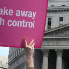 Placard from Planned Parenthood Rally in New York City.