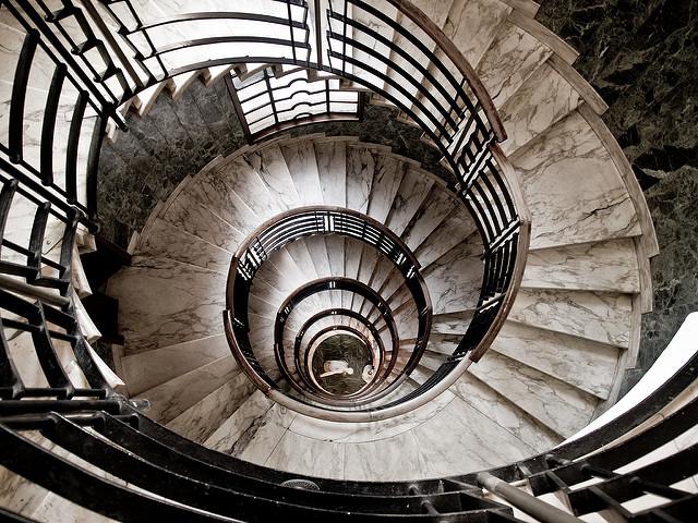 U201cSpiral Stairs In Milanese Buildingu201d By Michelle Ursino