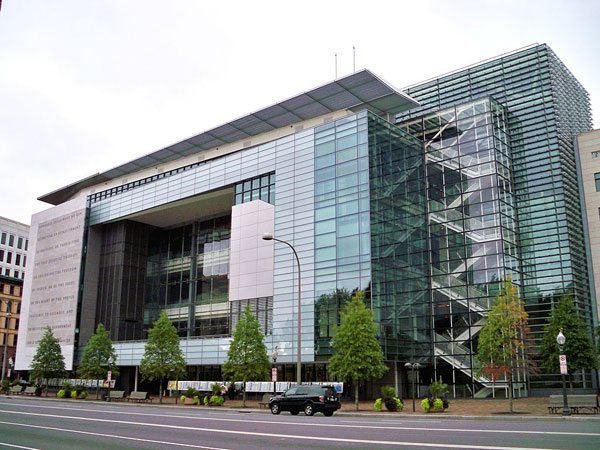 The Newseum building in Washington, D.C.