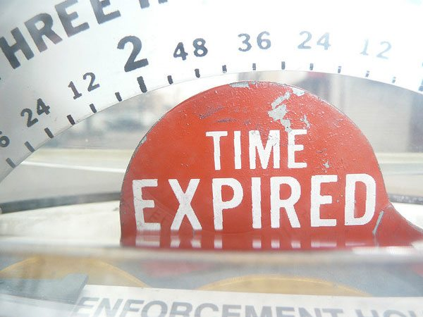 """It is a sign in read that reads """"Time Expired"""" google for nonprofits"""