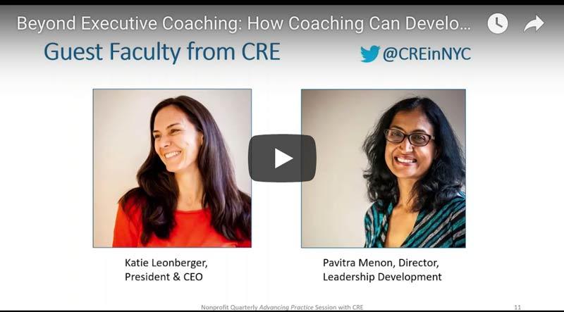 Beyond Executive Coaching: How Coaching Can Develop the Next