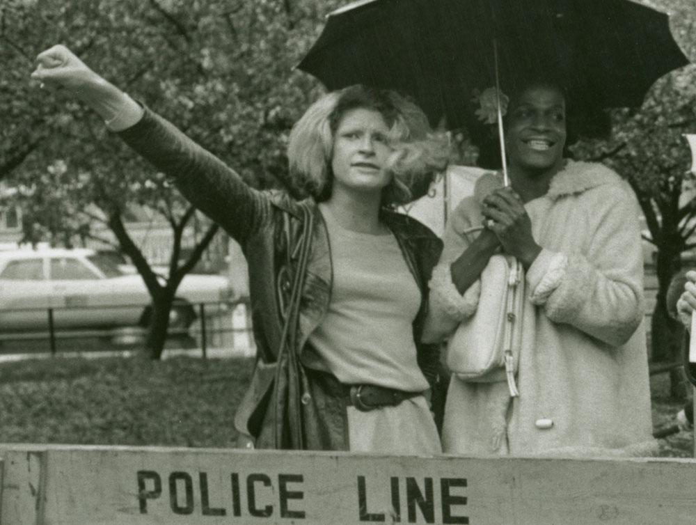 Sylvia Rivera (l.) and Marsha Johnson.