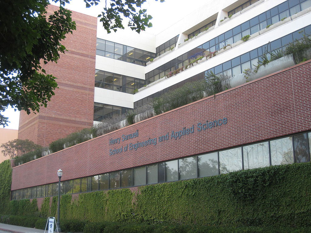 The edifice of the Henry Samueli School of Engineering and Applied Science