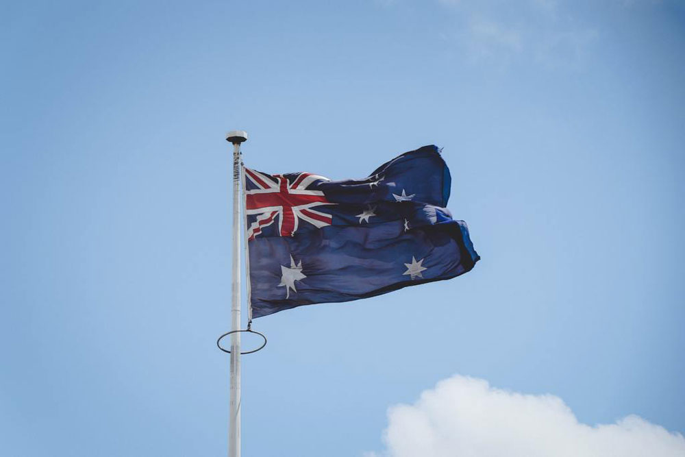 The flag of Australia.