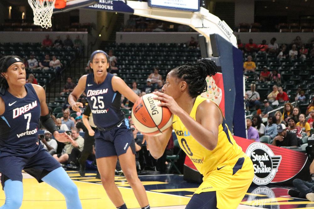 WNBA women's basketball players. Atlanta vs. Indianapolis.