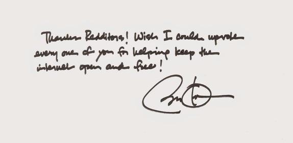 Obama reddit note